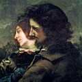The Happy Lovers Print by Gustave Courbet