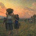 The Last Gleanings Print by Jules Breton