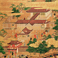 The Life and Pastimes of the Japanese Court - Tosa School - Edo Period Print by Japanese School