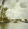 The Little Branch of the Seine at Argenteuil Print by Claude Monet