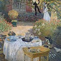 The Luncheon Print by Claude Monet