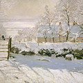 The Magpie Print by Claude Monet