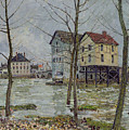 The Mills at Moret sur Loing Print by Alfred Sisley