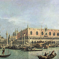 The Molo and the Piazzetta San Marco Print by Canaletto