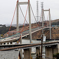 The New Alfred Zampa Memorial Bridge and The Old Carquinez Bridge . 7D8915 Poster by Wingsdomain Art and Photography