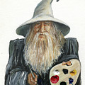 The Painting Wizard Print by J W Baker