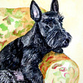 The Perfect Guest - Scottish Terrier Print by Lyn Cook