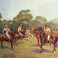 The Polo Match Print by C M  Gonne
