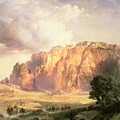 The Pueblo of Acoma in New Mexico Poster by Thomas Moran
