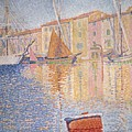 The Red Buoy Poster by Paul Signac