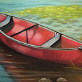 The Red Canoe Print by Marcia  Hero