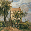 The Road to Rueil Print by Camille Pissarro
