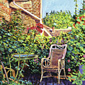 The Roof Garden Print by David Lloyd Glover