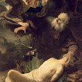 The Sacrifice of Abraham Print by Rembrandt
