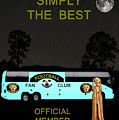 The Scream World Tour Football tour bus simply the best Poster by Eric Kempson