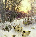 The Sun Had Closed the Winter's Day  Print by Joseph Farquharson