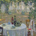 The Table in the Sun in the Garden Print by Henri Le Sidaner