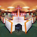 The Three Crosses Print by Simon Currell