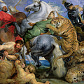 The Tiger Hunt Poster by Rubens