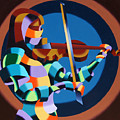 The Violinist Poster by Mark Webster