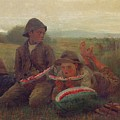 The Watermelon Boys Poster by Winslow Homer