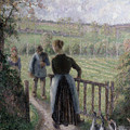 The Woman with the Geese Print by Camille Pissarro
