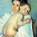 The Young Mother Print by Mary Stevenson Cassatt