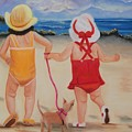 Three for the Beach Poster by Joni McPherson