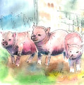 Three Little Pigs Print by Arline Wagner