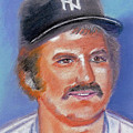 Thurman Munson Poster by William Bowers