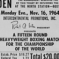 Ticket To World Championship Boxing Poster by Everett