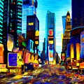 Times Square Print by Andrea Meyer