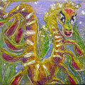 Tiny Anthropomorphic Sea Dragon 3 Poster by Michelley QueenofQueens