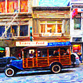 Touring The Streets of San Francisco . Photo Artwork Poster by Wingsdomain Art and Photography