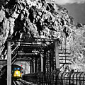 Train at Harpers Ferry Print by Williams-Cairns Photography LLC