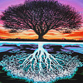 tree of life and negative Print by Brian Schuster