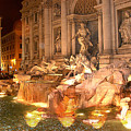 Trevi Fountain at Night Print by Jim Kuhlmann