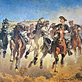 Troopers Moving Print by Frederic Remington