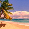 Tropical Island 6 - Painterly Poster by Wingsdomain Art and Photography