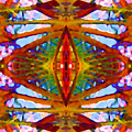 Tropical Stained Glass Print by Amy Vangsgard