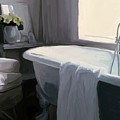 Tub in Grey Print by Patti Siehien