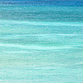 Turquoise Blue Carribean Water Print by James Forte