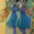 Two Blue Dancers Poster by Edgar Degas
