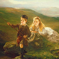 Two Children Fishing in Scotland   Print by Otto Leyde