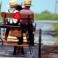 Two Little Amish Boys in a Buggy Print by Randy Matthews