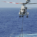 Two Sa-330 Puma Helicopters Deliver Print by Stocktrek Images