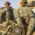 Two U.s. Army Soldiers Relax Prior Print by Stocktrek Images