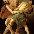 Two Wrestlers Print by Cesare Francazano