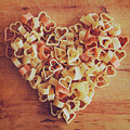 Uncooked Heart-shaped Pasta Poster by Julia Davila-Lampe