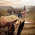 Union Soldiers On Lookout Mountain Print by War Is Hell Store